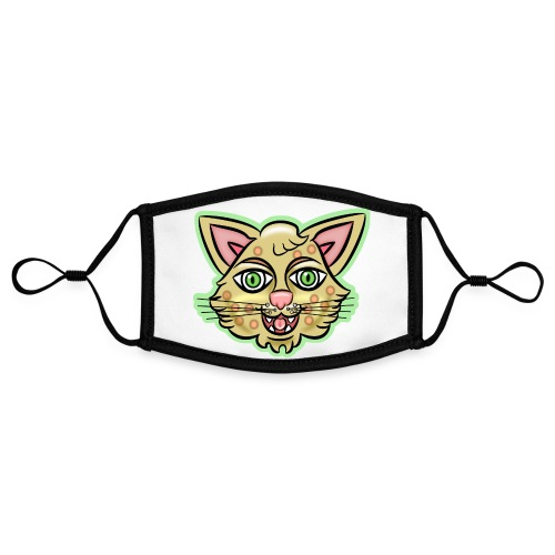 Happy Cat Gold - Adjustable Contrast Face Mask (Small)