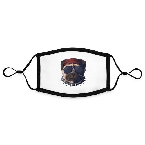 Dog head smoke - Adjustable Contrast Face Mask (Small)