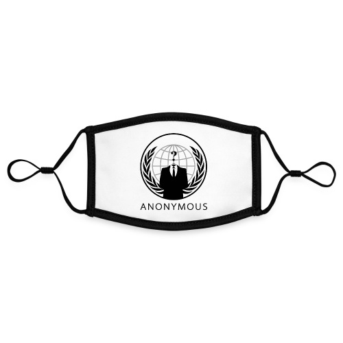 Anonymous 1 - Black - Adjustable Contrast Face Mask (Small)