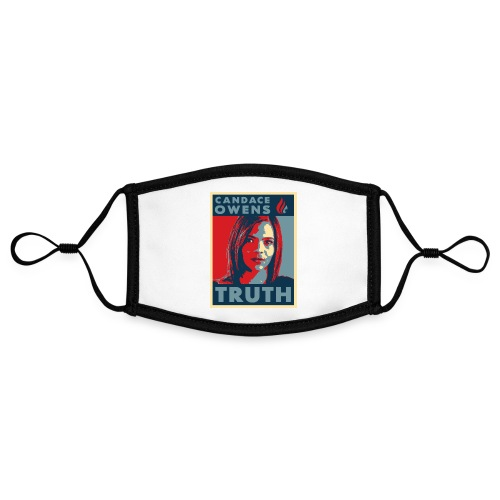 Candace Owens for President - Adjustable Contrast Face Mask (Small)
