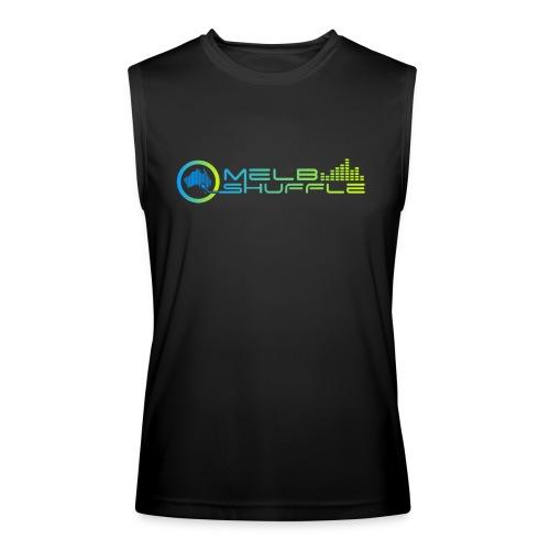 Melbshuffle Gradient Logo - Men's Performance Sleeveless Shirt
