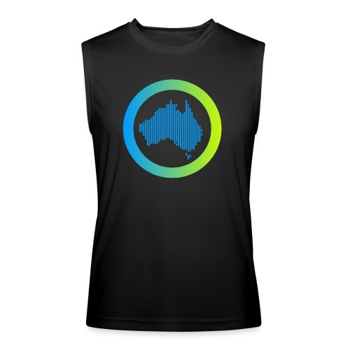 Gradient Symbol Only - Men's Performance Sleeveless Shirt