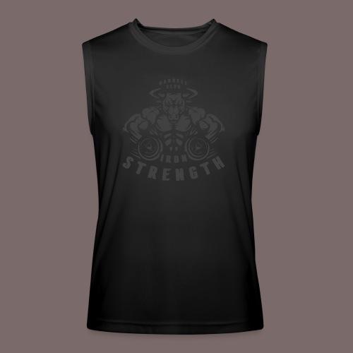 Grey Fill Bull - Men's Performance Sleeveless Shirt
