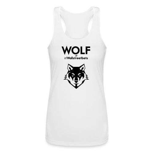 Wolf of Wallstreetbets - Women's Performance Racerback Tank Top