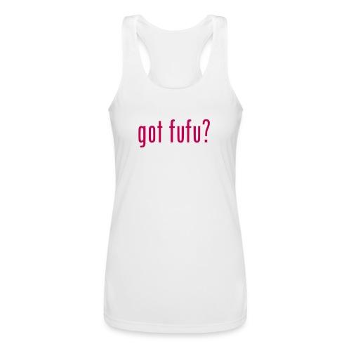 gotfufu-white - Women's Performance Racerback Tank Top