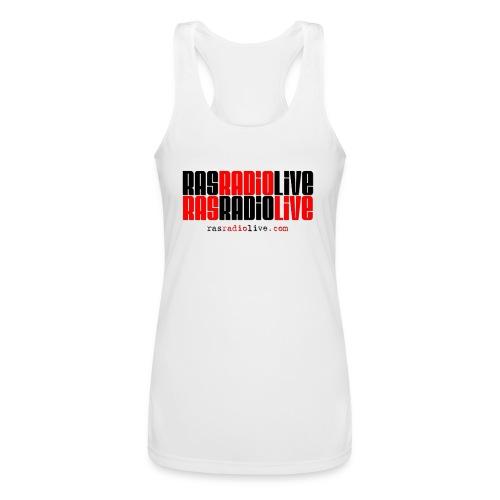 rasradiolive png - Women's Performance Racerback Tank Top