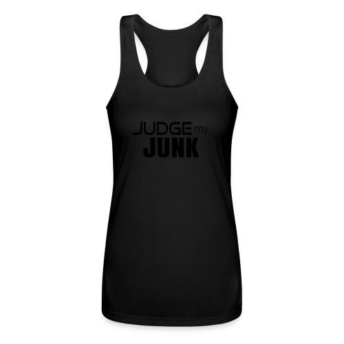 Judge my Junk Tshirt 03 - Women's Performance Racerback Tank Top