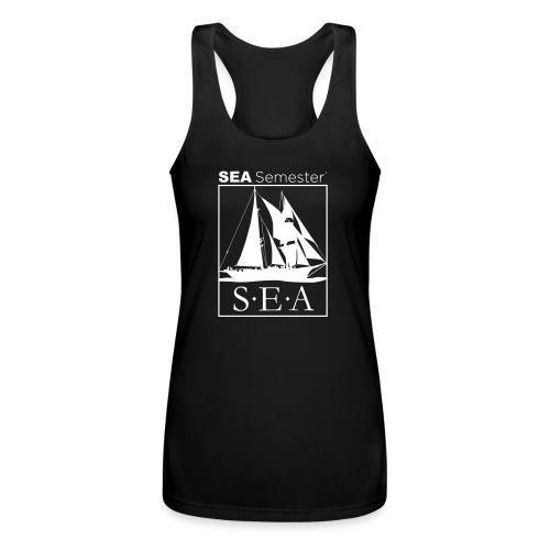 SEA_logo_WHITE_eps - Women's Performance Racerback Tank Top