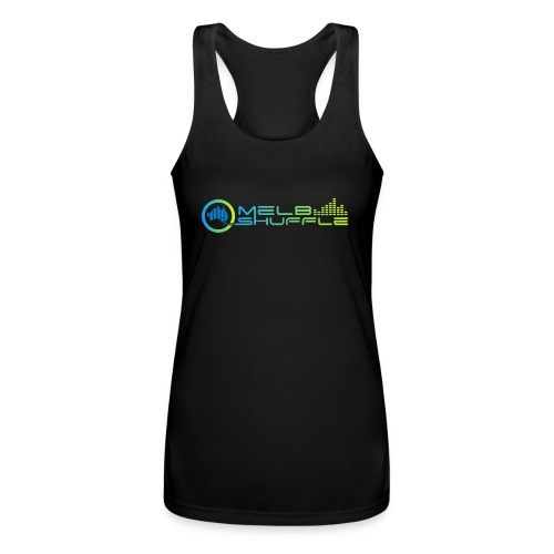Melbshuffle Gradient Logo - Women's Performance Racerback Tank Top