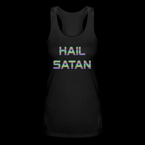 Hail Satan - Vaporwave - Women's Performance Racerback Tank Top
