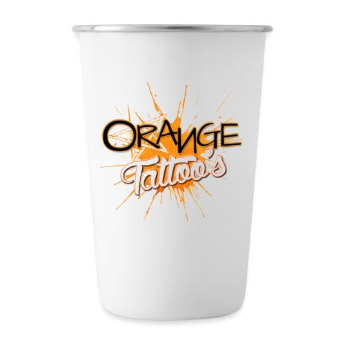 Orange Tattoo's - Stainless Steel Pint Cup