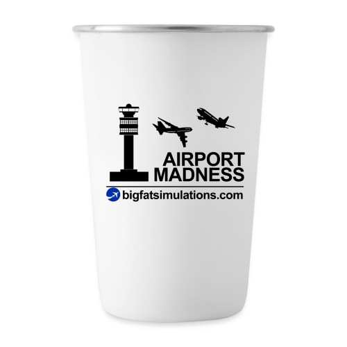 The Official Airport Madness Mug - Stainless Steel Pint Cup