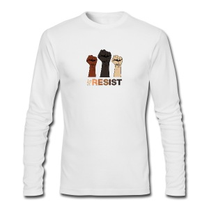 Resist / Racial Justice - Men's Long Sleeve T-Shirt by Next Level