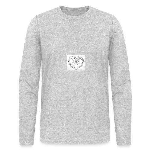 rose heart - Men's Long Sleeve T-Shirt by Next Level
