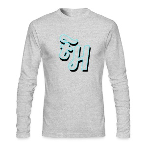 long sleeve grey shirt with limited edition logo - Men's Long Sleeve T-Shirt by Next Level