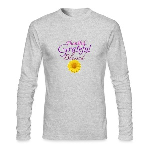 Thankful grateful blessed - Men's Long Sleeve T-Shirt by Next Level