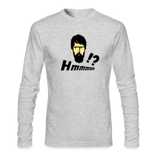 hmm!? emotion serious bearded face - Men's Long Sleeve T-Shirt by Next Level