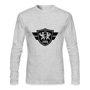 Iran crest - Men's Long Sleeve T-Shirt by Next Level