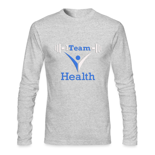 1TH - Blue and White - Men's Long Sleeve T-Shirt by Next Level
