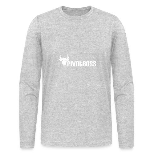 PivotBoss White Logo - Men's Long Sleeve T-Shirt by Next Level