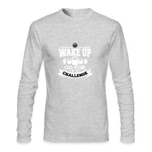 Wake Up and Take the Challenge - Men's Long Sleeve T-Shirt by Next Level