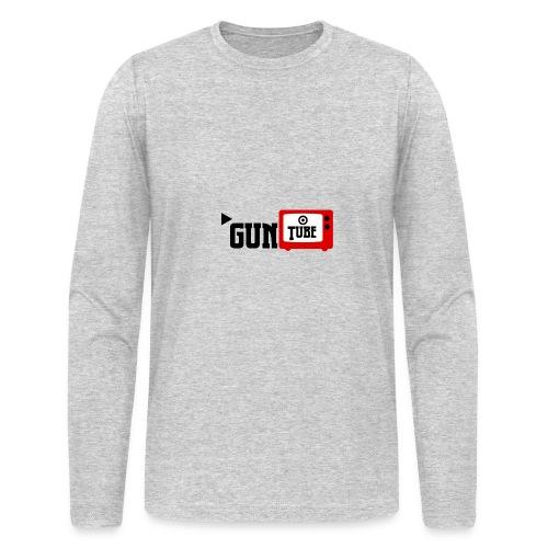 guntube larger logo - Men's Long Sleeve T-Shirt by Next Level