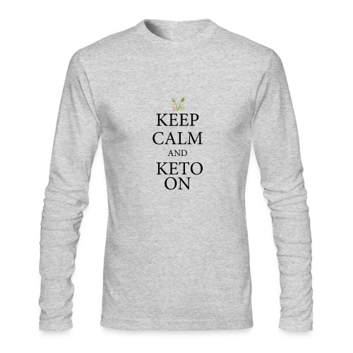 Keto keep calm - Men's Long Sleeve T-Shirt by Next Level