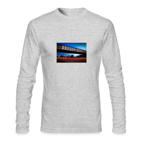 Husttle City Bridge - Men's Long Sleeve T-Shirt by Next Level