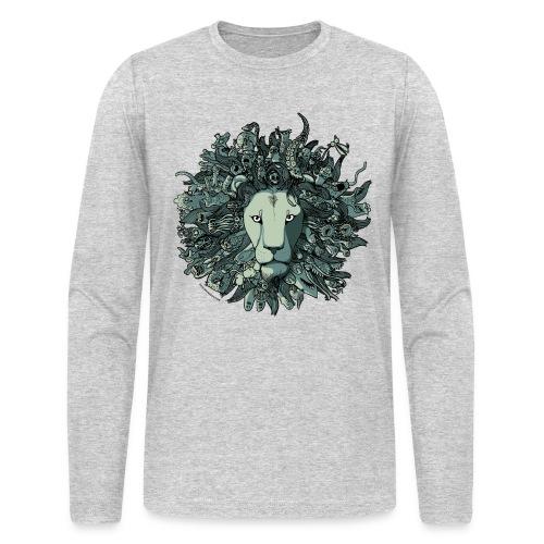 Grey Lion - Men's Long Sleeve T-Shirt by Next Level