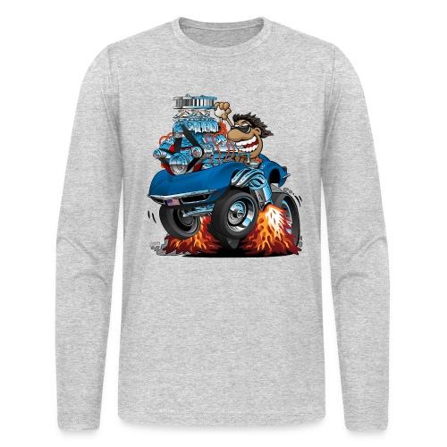 Classic '69 American Sports Car Cartoon - Men's Long Sleeve T-Shirt by Next Level