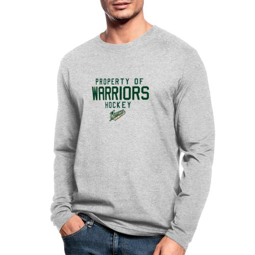 PROPERTY OF WARRIORS - Men's Long Sleeve T-Shirt by Next Level