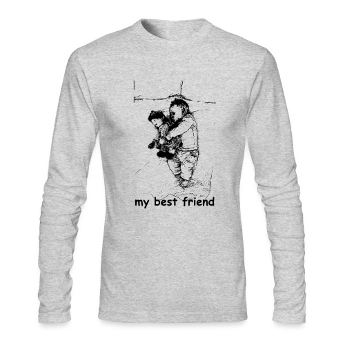 My Best Friend (baby) - Men's Long Sleeve T-Shirt by Next Level