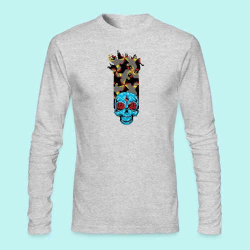 90s KID SKULLY - Men's Long Sleeve T-Shirt by Next Level