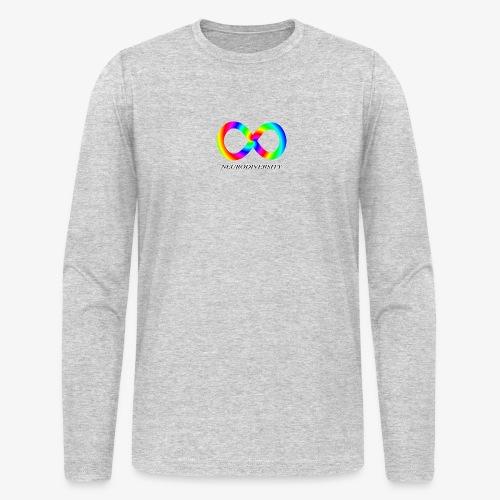 Neurodiversity with Rainbow swirl - Men's Long Sleeve T-Shirt by Next Level