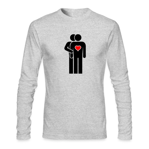 MAN LOVE HEART No. 001 - Men's Long Sleeve T-Shirt by Next Level