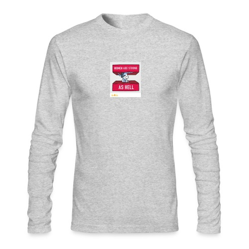 women are strong as hell - Men's Long Sleeve T-Shirt by Next Level