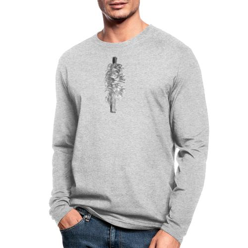 Grey Feather - Men's Long Sleeve T-Shirt by Next Level