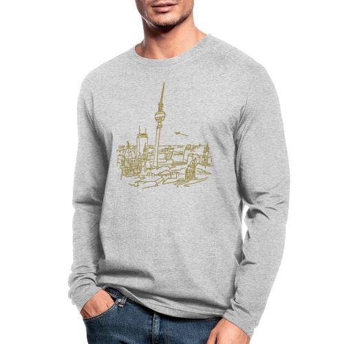 Panorama of Berlin - Men's Long Sleeve T-Shirt by Next Level