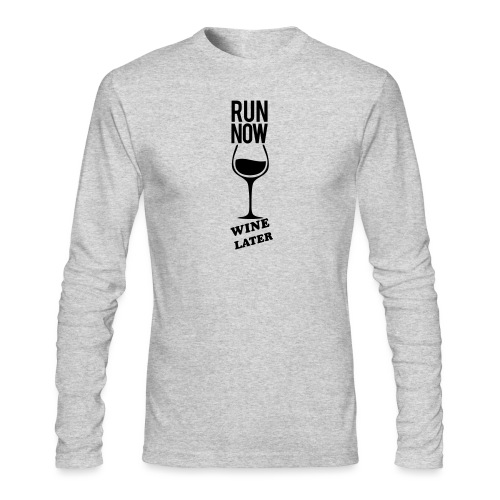 Run Now Gym Motivation - Men's Long Sleeve T-Shirt by Next Level