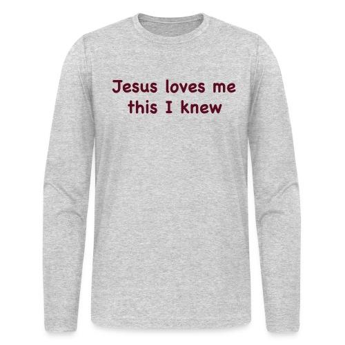 jesus loves me - Men's Long Sleeve T-Shirt by Next Level