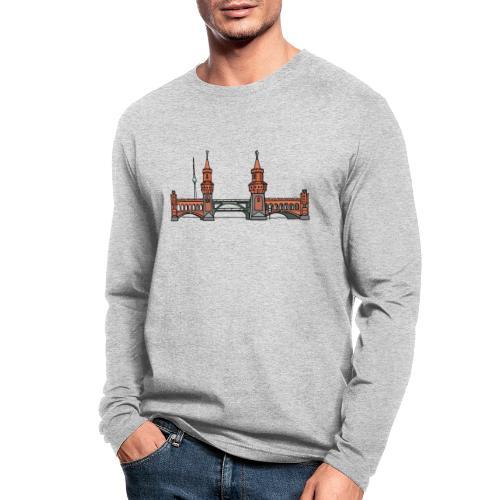 Oberbaum Bridge Berlin - Men's Long Sleeve T-Shirt by Next Level