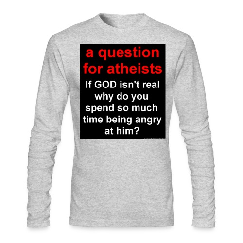 question4atheists black - Men's Long Sleeve T-Shirt by Next Level