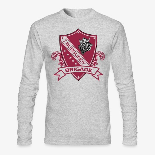 Burgundy Brigade Logo - Men's Long Sleeve T-Shirt by Next Level