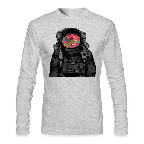 tripped out space man - Men's Long Sleeve T-Shirt by Next Level
