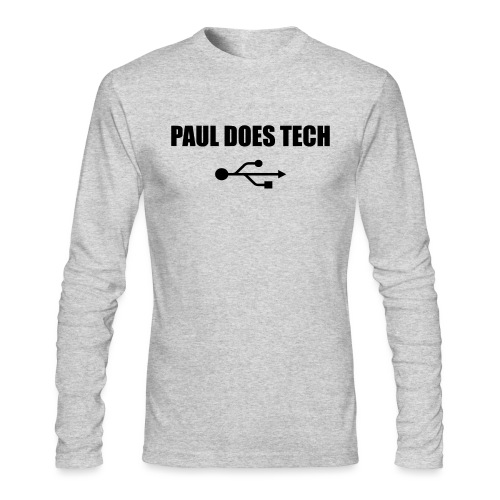 Paul Does Tech Logo Black with USB - Men's Long Sleeve T-Shirt by Next Level
