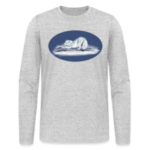 Arctic Fox on snow - Men's Long Sleeve T-Shirt by Next Level
