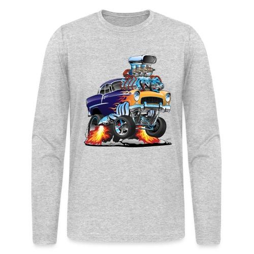 Classic Fifties Hot Rod Muscle Car Cartoon - Men's Long Sleeve T-Shirt by Next Level
