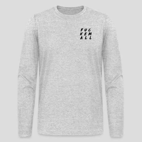FUCKEMALL Black Logo - Men's Long Sleeve T-Shirt by Next Level