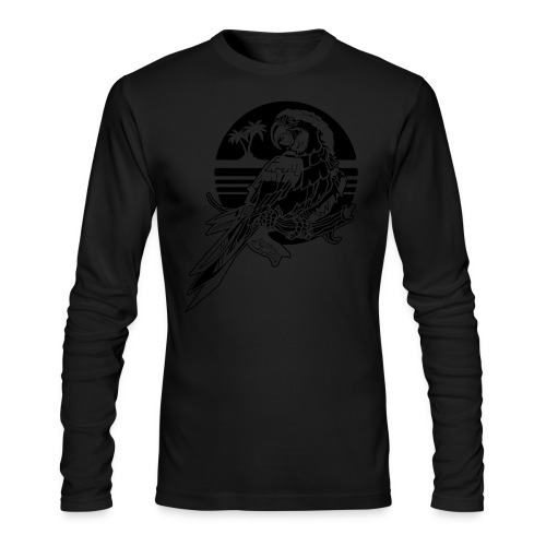 Tropical Parrot - Men's Long Sleeve T-Shirt by Next Level