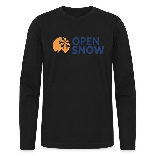 OpenSnow Horizontal Logo - Men's Long Sleeve T-Shirt by Next Level
